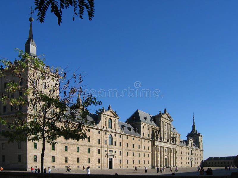 Royal monastery in El Escorial, Spain stock image