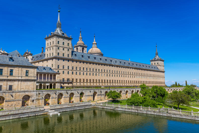 Royal Monastery of San Lorenzo de El Escorial near Madrid, Spain. Europe stock images