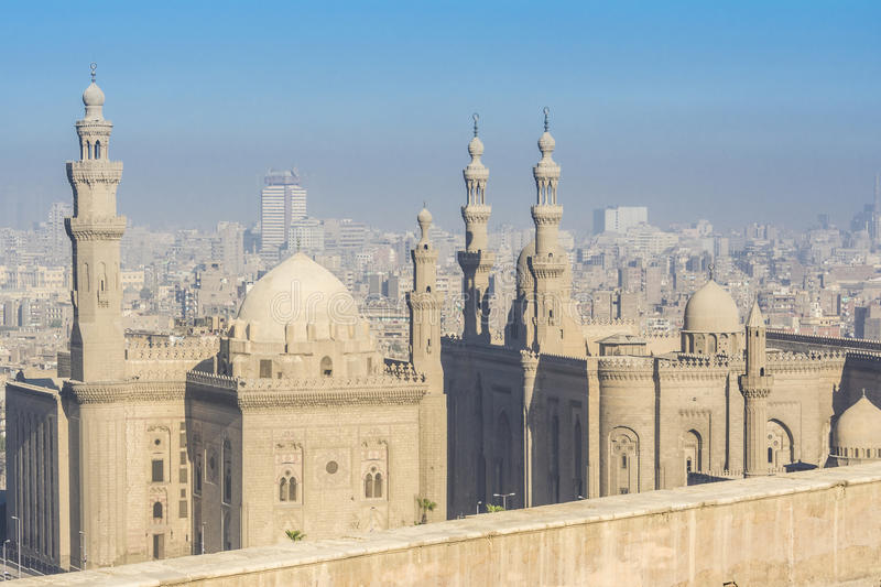 Royal Mosque and Mosque-Madrassa of Sultan Hassan, Cairo, Egypt royalty free stock photography