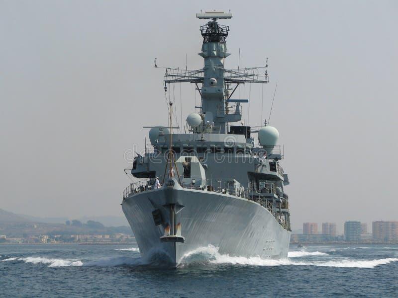 Royal Navy Frigate stock photo