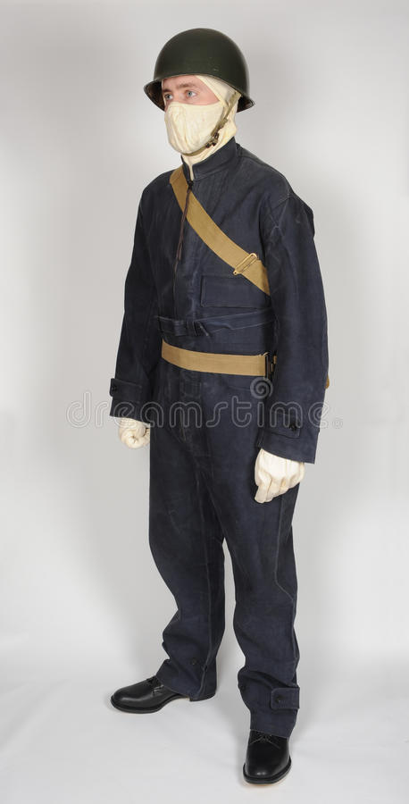 Royal Navy sailor WWII stock photography