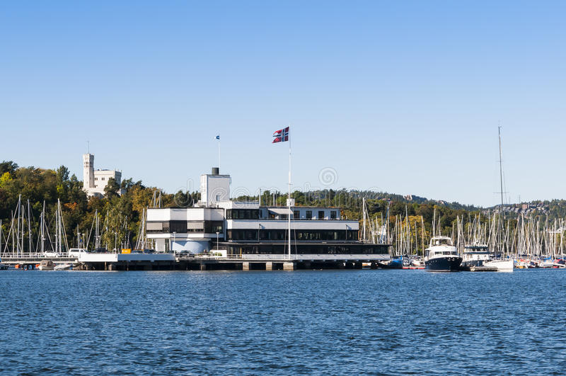 Royal Norwegian Yacht Club Oslo. The Royal Norwegian Yacht Club (Norwegian: Kongelig Norsk Seilforening) at Bygdøy, Oslo, Norway royalty free stock photos