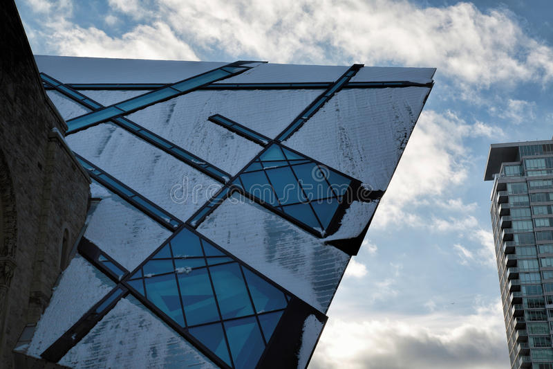 Royal Ontario Museum ROM in Toronto, Canada royalty free stock image