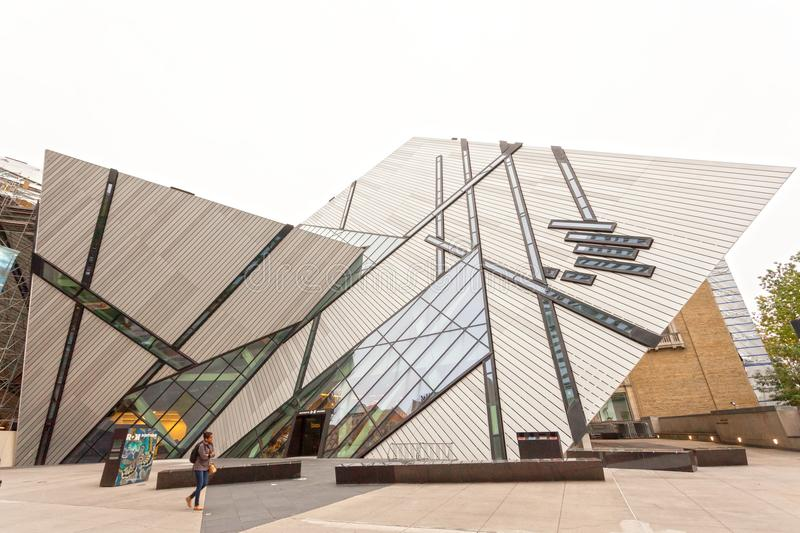 The Royal Ontario Museum in Toronto stock images