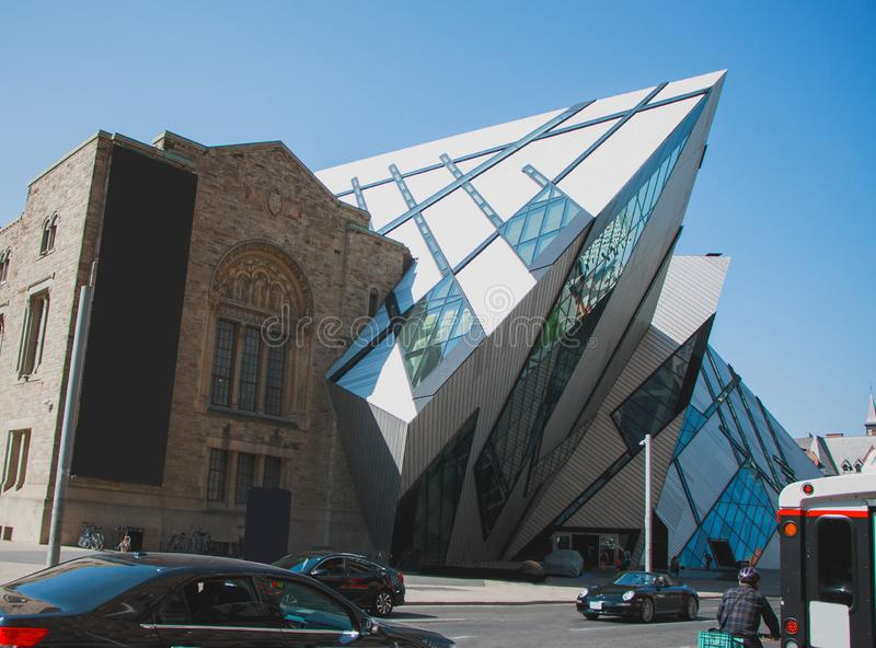 Royal Ontario Museum in Toronto royalty free stock photo