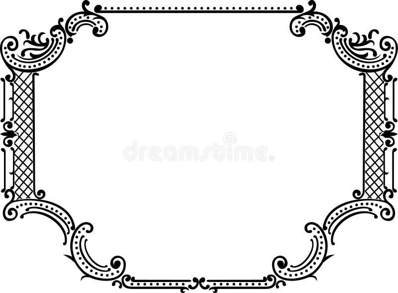 Royal Ornate One Color Frame stock illustration