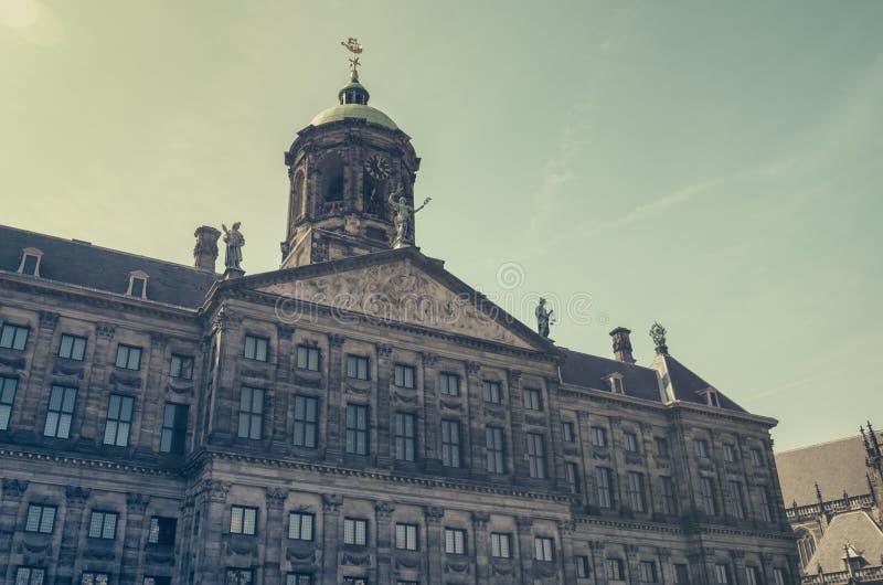 Royal Palace στο Άμστερνταμ, Κάτω Χώρες στοκ φωτογραφία με δικαίωμα ελεύθερης χρήσης