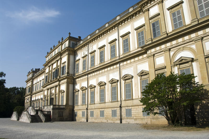 Royal palace. The royal palace in Monza, Built between 1777 and 1780 for austrian emperor royalty free stock image