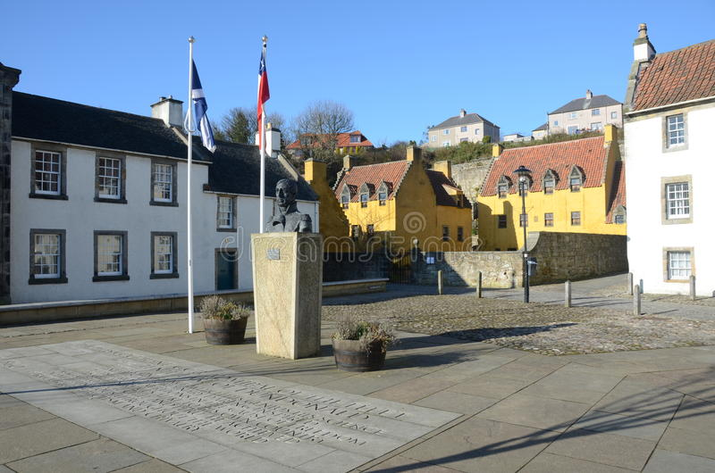 Royal Palace. A view of the palace in the royal burgh of Culross stock photography
