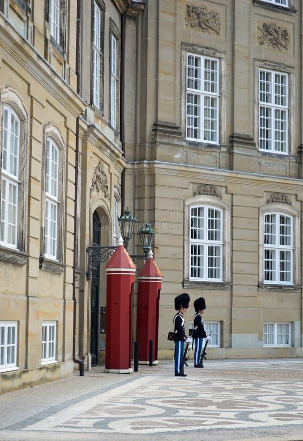 Royal Palace a Amalienborg Copenhaghen immagini stock libere da diritti