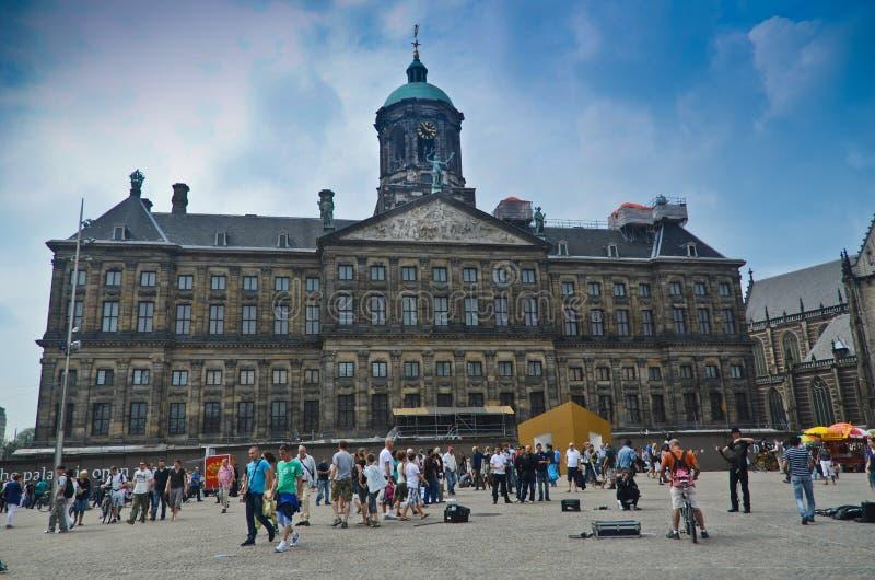 The Royal Palace - Amsterdam stock photos