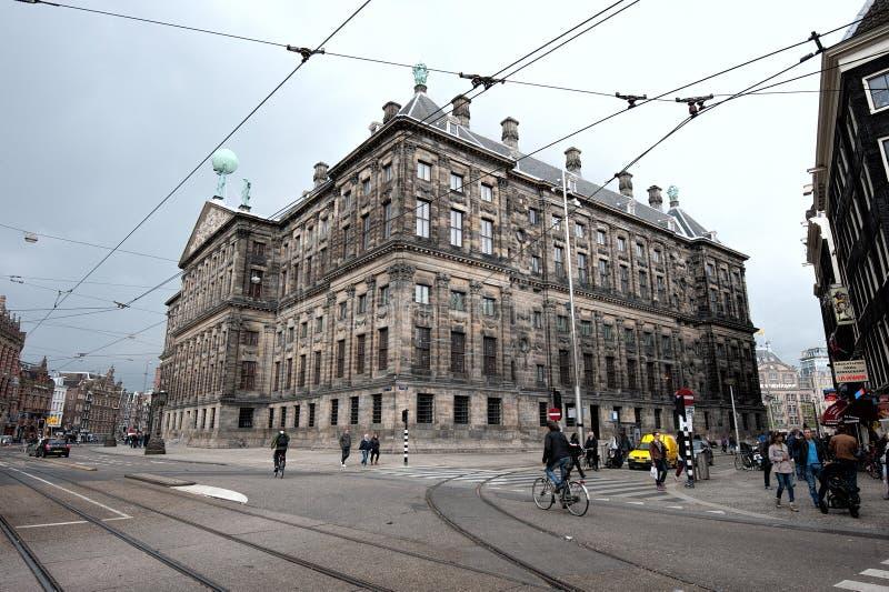 Royal Palace Amsterdam royaltyfri fotografi