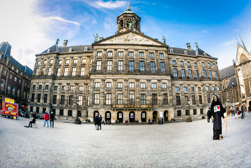 Royal Palace Amsterdam stock image