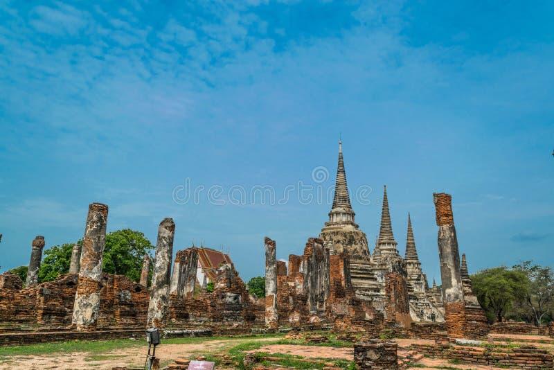 Royal Palace antique à Ayutthaya Thaïlande images stock