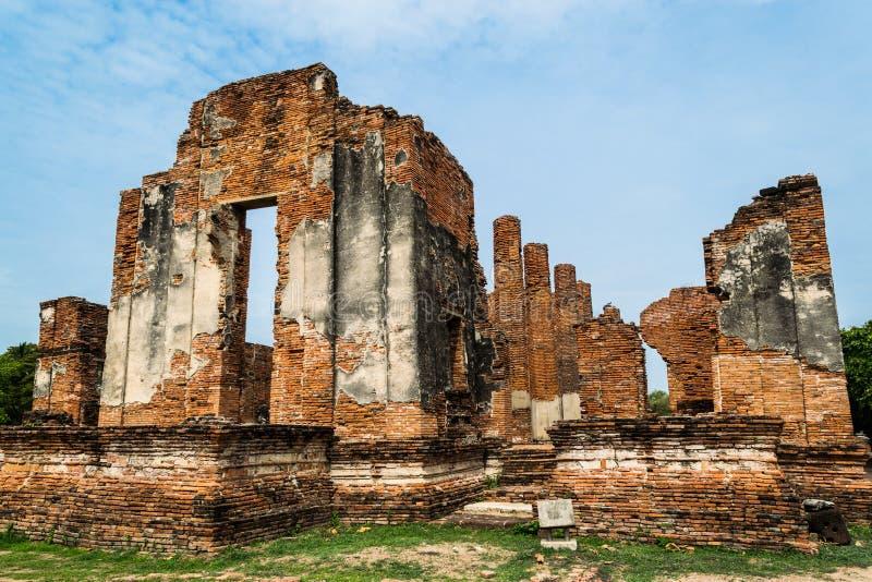 Royal Palace antique à Ayutthaya Thaïlande image libre de droits