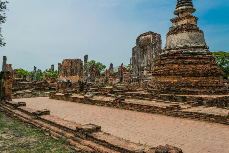 Royal Palace antique à Ayutthaya Thaïlande photographie stock