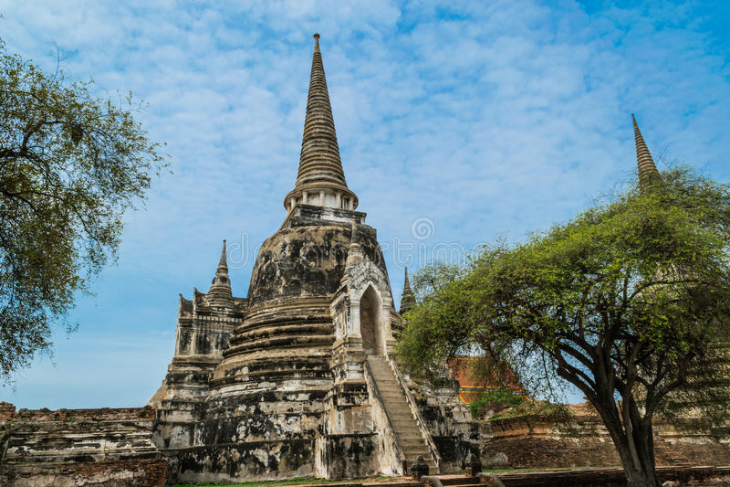 Royal Palace antique à Ayutthaya Thaïlande photos stock