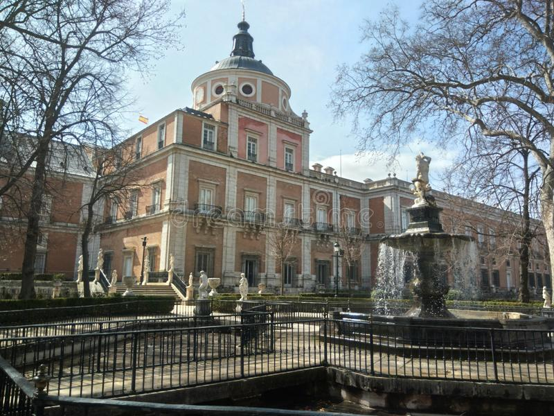 Royal Palace of Aranjuez stock image