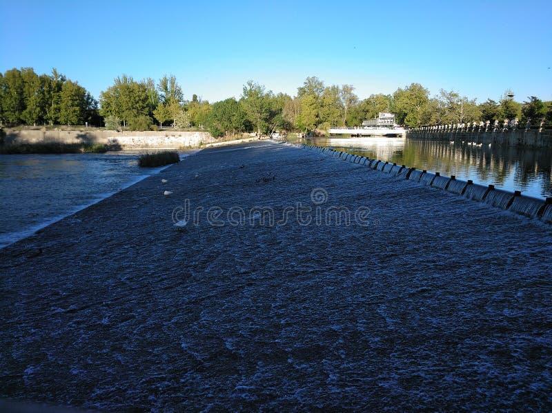Royal Palace of Aranjuez. Tajo River stock image
