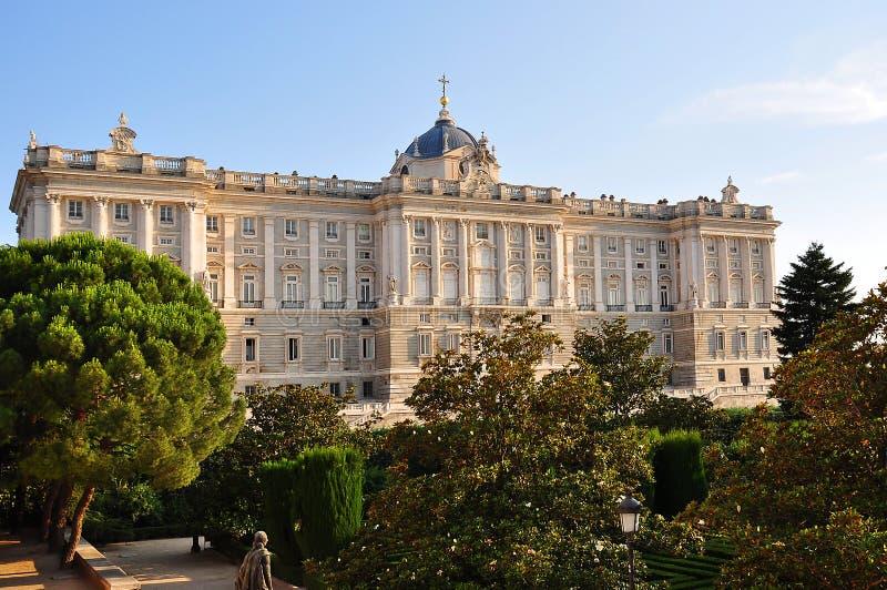 Royal Palace av Madrid, Spanien arkivfoton