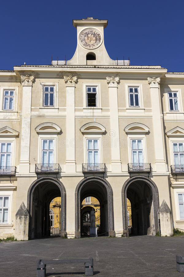 Royal Palace av Portici i Italien royaltyfri bild
