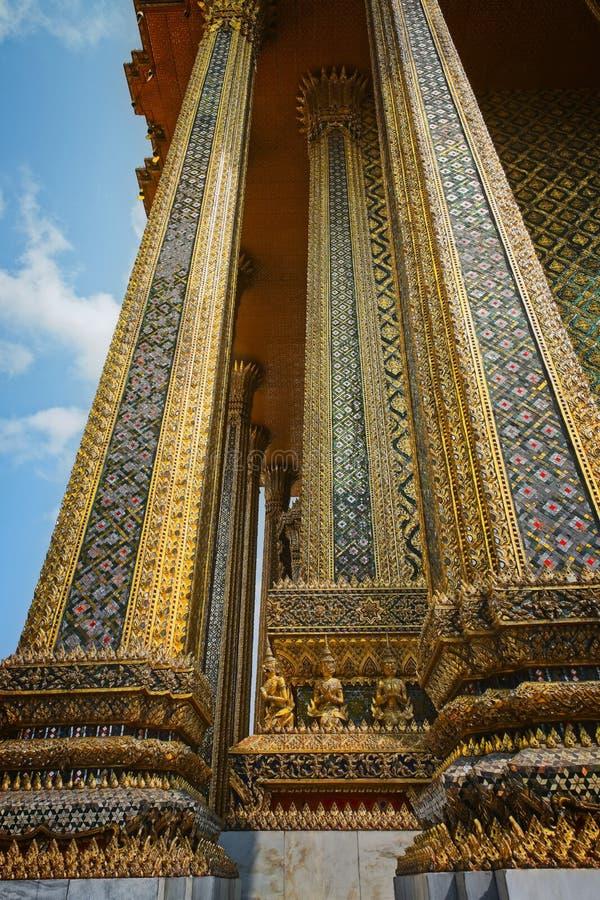 Royal Palace Bangkok, powierzchowność pod widok obrazy royalty free