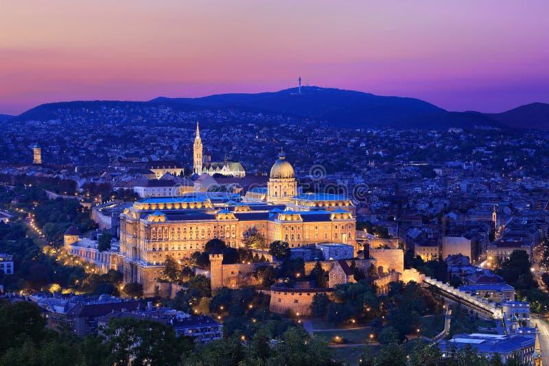 Royal Palace in Boedapest, Hongarije stock afbeeldingen