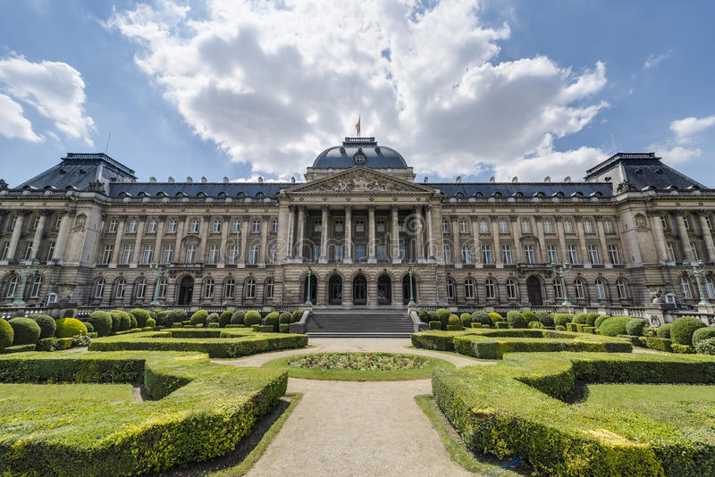 Royal Palace of Brussels in Belgium. Royal Palace of Brussels (Koninklijk Paleis van Brussel or Palais Royal de Bruxelles), the official palace of the King and royalty free stock photos