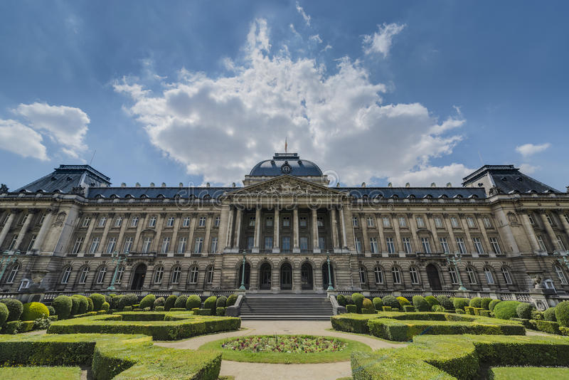 Royal Palace of Brussels in Belgium. Royal Palace of Brussels (Koninklijk Paleis van Brussel or Palais Royal de Bruxelles), the official palace of the King and royalty free stock images