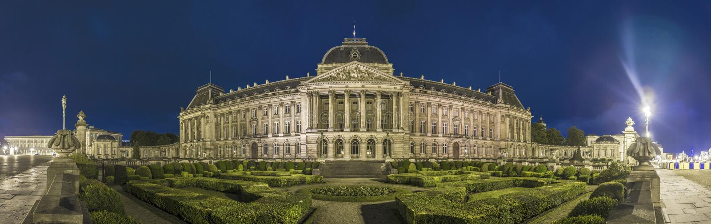 Royal Palace of Brussels, Belgium. The Palais Royal de Bruxelles or Koninklijk Paleis van Brussel (Royal Palace of Brussels), the official palace of the King stock images