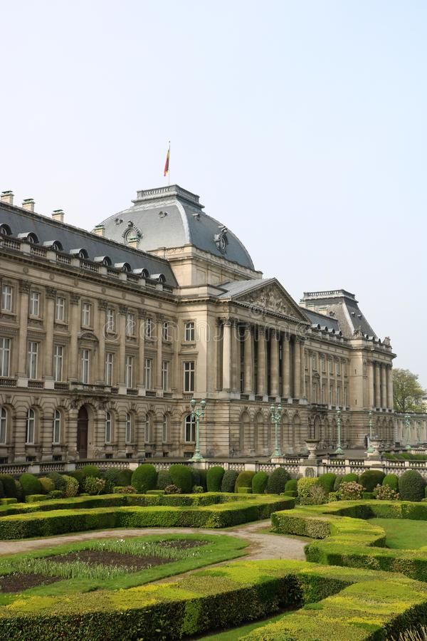 Royal Palace of Brussels. The official palace of the King and Queen of the Belgians in the centre of the nation`s capital Brussels. Construction started in stock photo