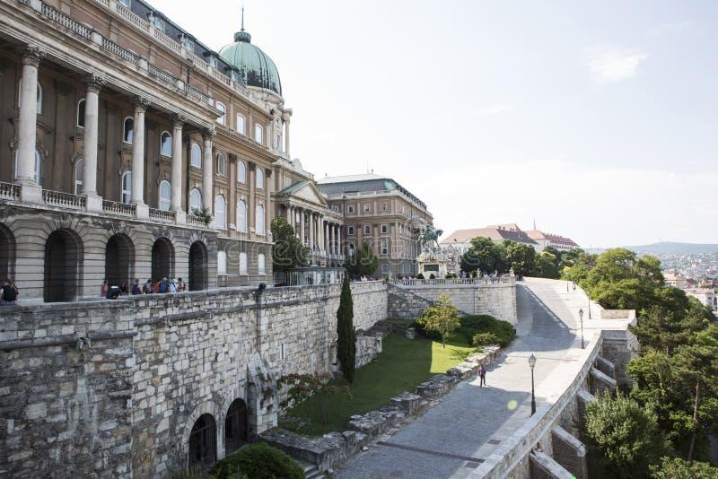 Royal Palace Buda kasztel, podwórzowy widok budapesztu zdjęcia royalty free