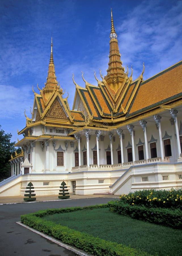 Royal Palace cambogiano immagini stock