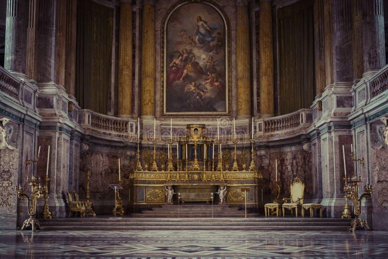 Royal Palace - Caserta, Italië royalty-vrije stock foto