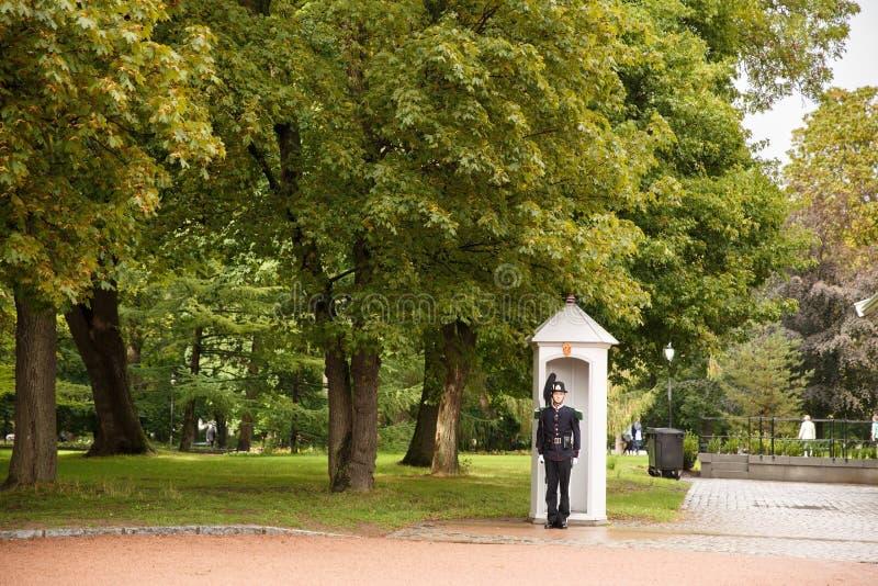 Royal Palace chroni w Oslo fotografia stock