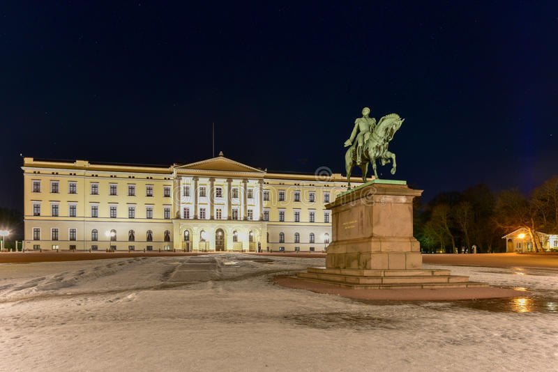 Royal Palace d'Oslo photo libre de droits