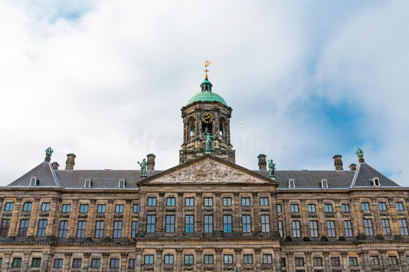 The Royal Palace in Dam Square, Amsterdam, Netherlands stock image