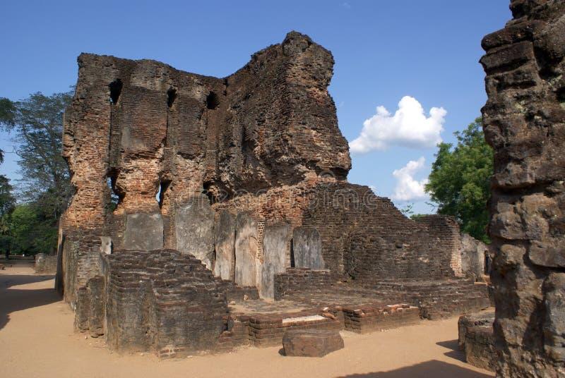 Royal Palace dans Polonnaruwa photographie stock libre de droits