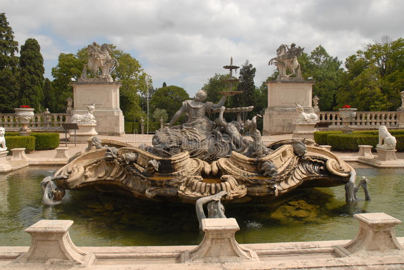 Royal Palace dans Queluz photo stock