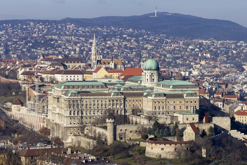 Royal Palace de Buda à Budapest photos stock