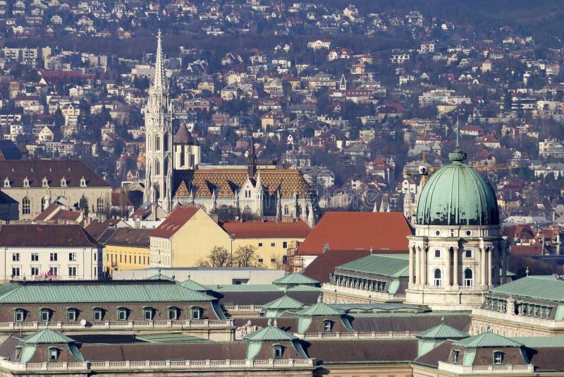 Royal Palace de Buda à Budapest images libres de droits