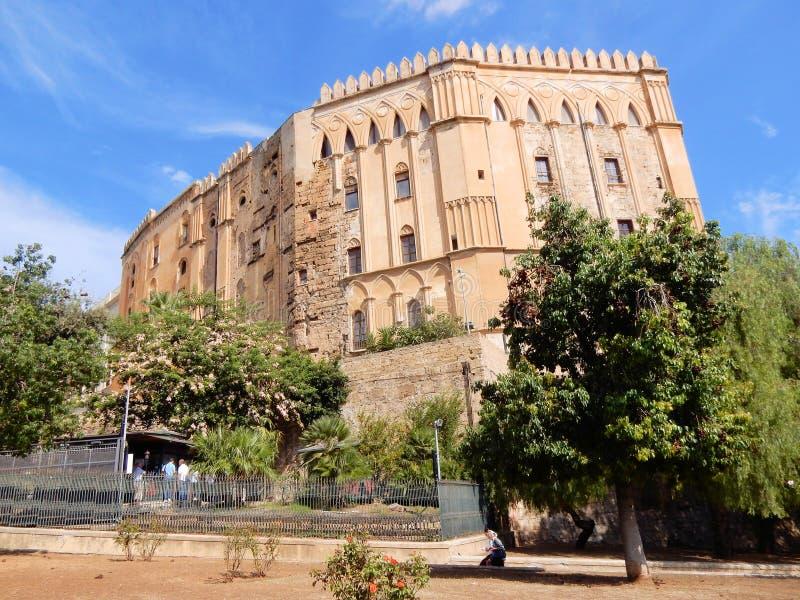 Royal Palace de Palerme, palais des Normands, Sicile, Italie images stock