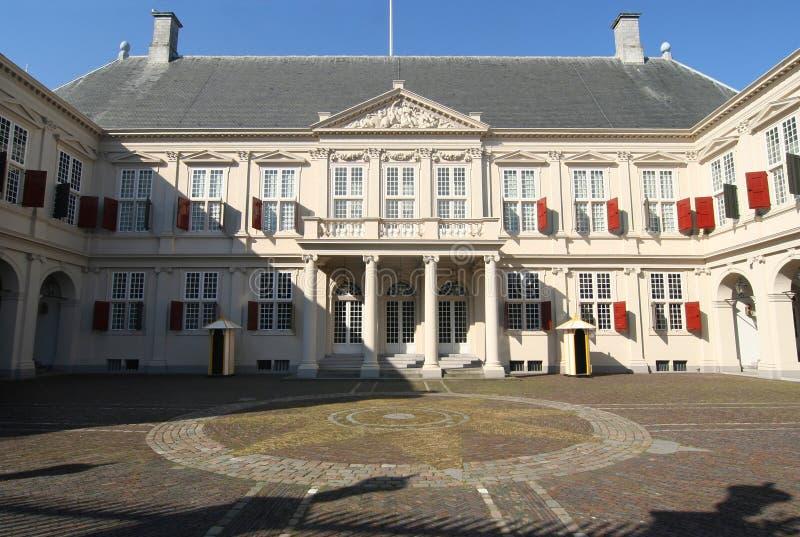 Royal Palace in Den Haag, Holland stockbilder