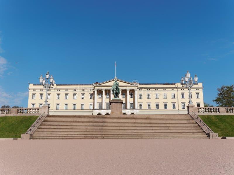 Royal Palace (Det kongelige slott) - Oslo, Norway stock photo