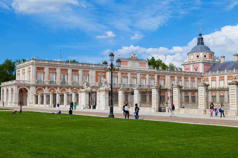 Royal Palace di Aranjuez, Madrid fotografia stock libera da diritti