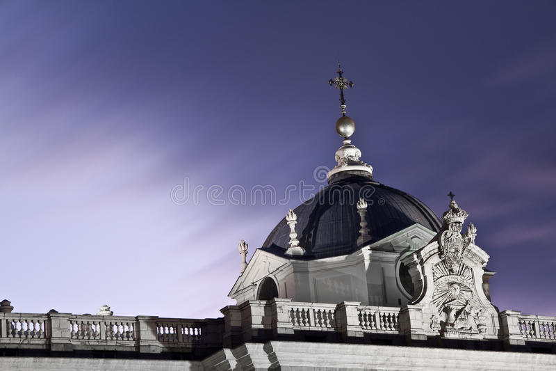 Royal Palace Di Madrid Fotografia Stock