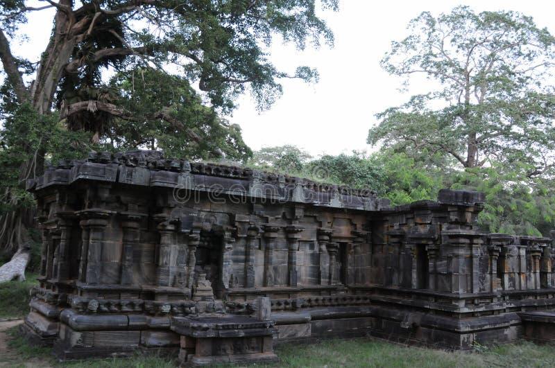 Royal Palace di re Parakramabahu nella città Polonnaruwa del patrimonio mondiale Il Polonnaruwa - capitale medievale dello Sri La fotografie stock libere da diritti