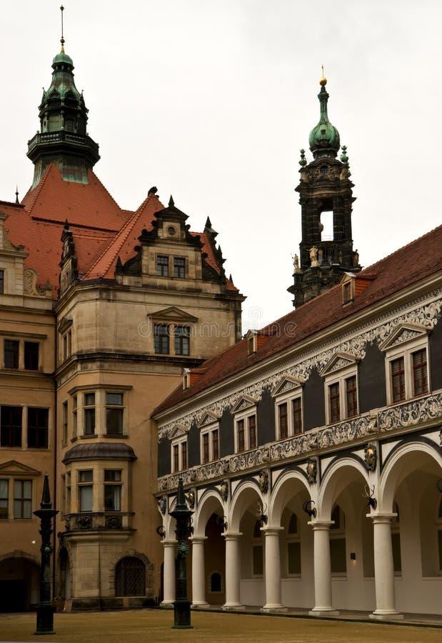 At the Royal Palace of Dresden stock image