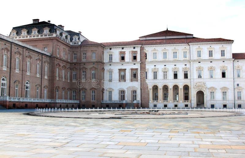 Royal Palace e fontana barrocco, Piemonte, Italia fotografie stock