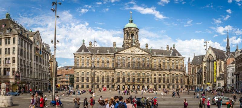 Royal Palace em Amsterdão fotos de stock